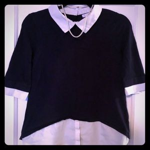 Navy Collared blouse